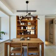 三室一厅简约原木餐厅桌椅装饰
