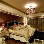 欧式古堡风卧室飘窗装饰