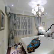 两室一厅欧式简约风格卧室飘窗装饰