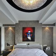 120平米商品房简约风格卧室背景墙效果图