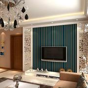 简约风格条纹式电视背景墙