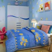 儿童房简约卡通背景墙装饰