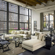 loft风格公寓客厅窗户装饰