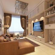 复式楼小型客厅背景墙装饰