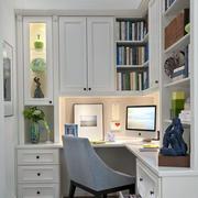 欧式简约整体式书房装饰