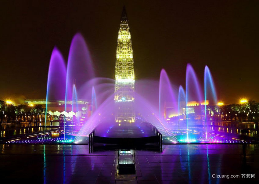 艺术层次的象征:城市建筑音乐喷泉设计效果图实例鉴赏