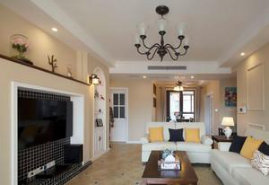 经典华丽的西方美:新古典美式风格客厅装修效果图鉴赏
