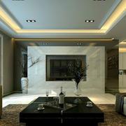 后现代风格客厅天花板吊顶装饰