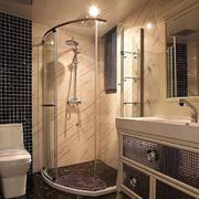 欧式简约风格卫生间独立淋浴效果图