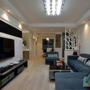 两室两厅后现代风格客厅灯饰装饰