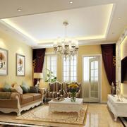 欧式简约风格别墅客厅背景墙装饰