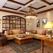 美式简约风格室内客厅装饰