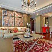 欧式简约红木客厅地板装饰