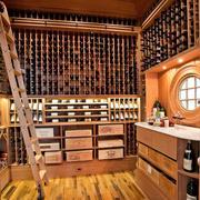 大型原木酒窖隔断装饰