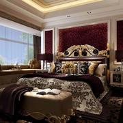 欧式经典深色系卧室装饰