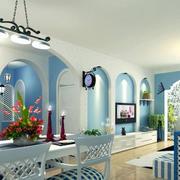 地中海风格别墅餐厅装饰