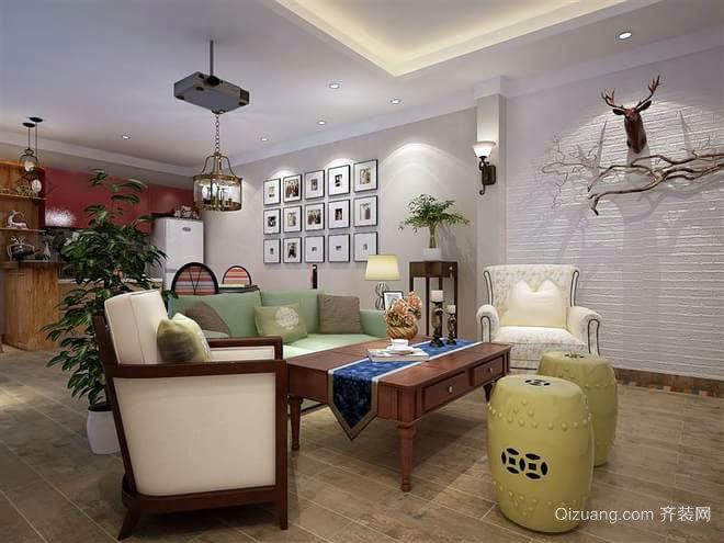 160平米传统融合现代的休闲三居房屋装修效果图