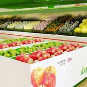 简约风格水果店塑料货架装饰
