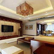 新中式风格客厅电视背景墙