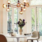 美式风格简约餐厅灯饰装饰