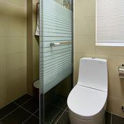 三室一厅简约风格卫生间玻璃隔断