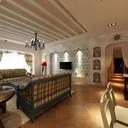 简约风格客厅天花板装饰