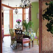 美式乡村风格样板房餐厅装饰