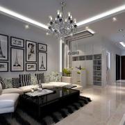后现代风格简约客厅吊顶装饰