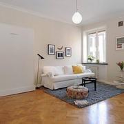 北欧风格原木浅色客厅地板装饰