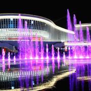 简约风格大型酒店门口喷泉效果图