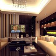 100平米简约客厅吊顶装饰