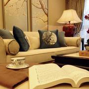 美式简约风格公寓客厅沙发效果图