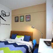 男生儿童房床头背景墙装饰