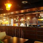 美式简约风格复古酒吧效果图