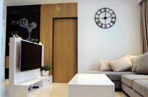 小户型简约风格客厅电视背景墙