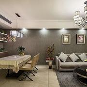 三室一厅后现代风格餐厅装饰