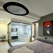 120平米商品房卧室床头背景墙装饰