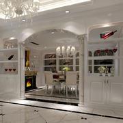 欧式别墅整体式酒柜装饰