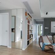 二手房简约风格客厅玄关装饰