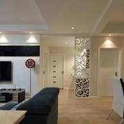 两室两厅简约风格吊顶射灯效果图