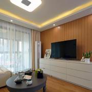 住宅式商品房简约风格电视背景墙
