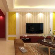 现代简约风格电视背景墙射灯装饰
