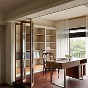 别墅简约风格书房书柜装饰