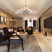 美式简约风格沙发背景墙装饰