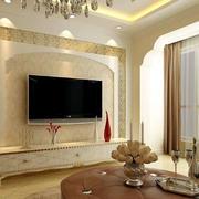 欧式客厅拱形电视背景墙