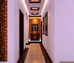 新中式别墅简约风格过道吊顶