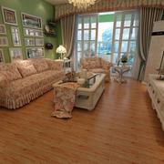 客厅简约风格石膏线装饰