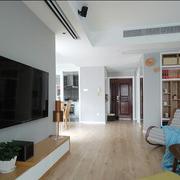 二手房简约风格客厅电视背景墙