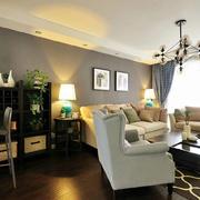 简约风格平房客厅沙发背景墙装饰
