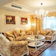 美式田园风格客厅沙发效果图